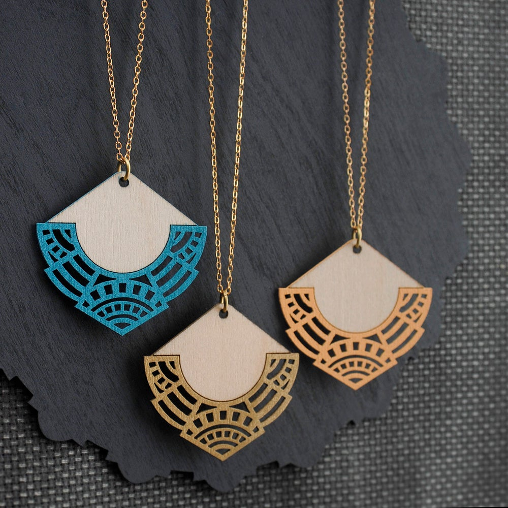 "Image of Discontinued Turquoise and Peach ""NALANI"" necklaces"