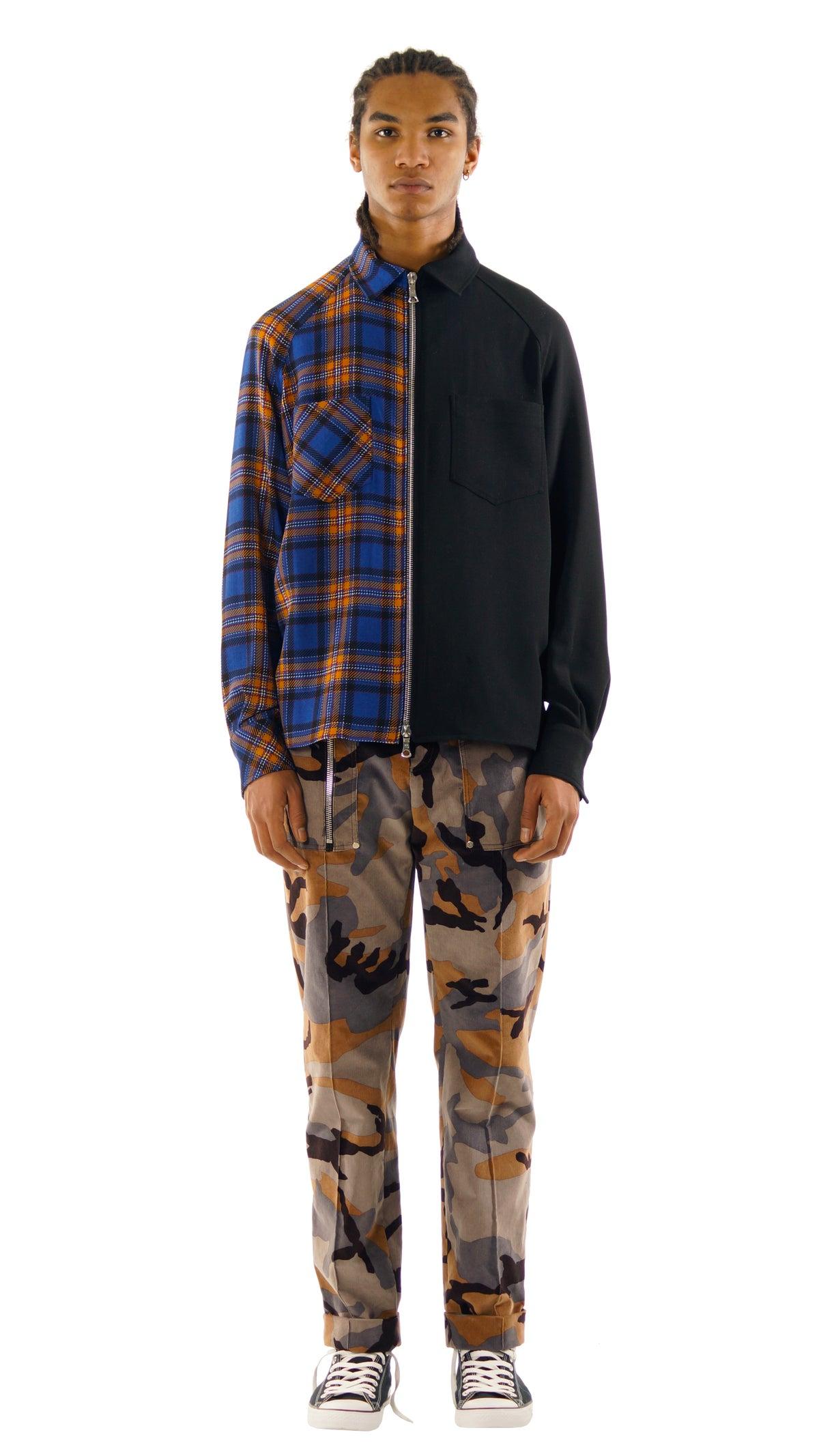 Image of Crêpe Wool Zip Shirt