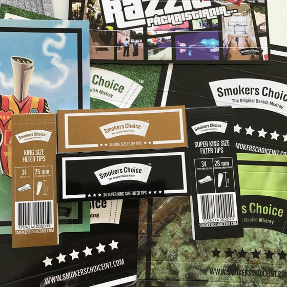 Image of Smokers Choice Filters - NEW DESIGNS! 34(!) FILTERS PER BOOKLET, etc