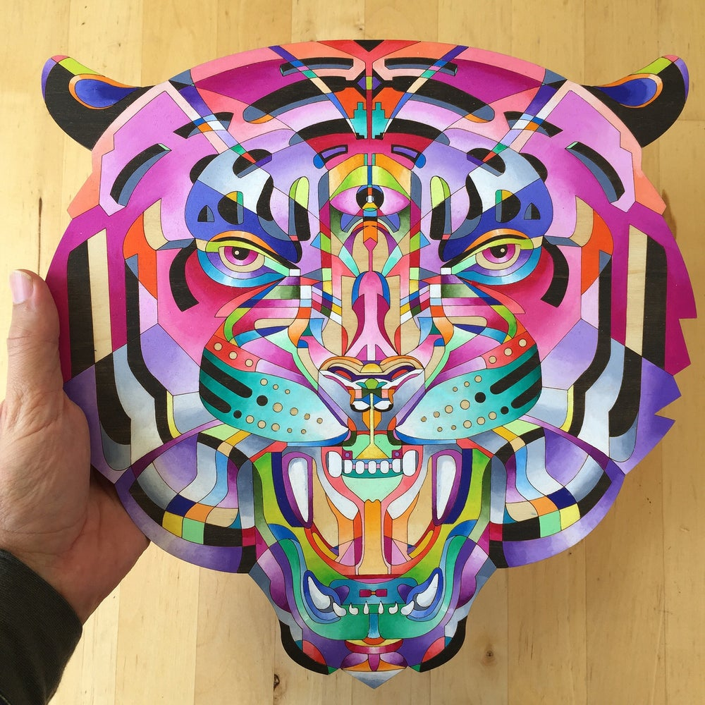 Image of SOLD OUT - Custom Wooden Tiger sculpture
