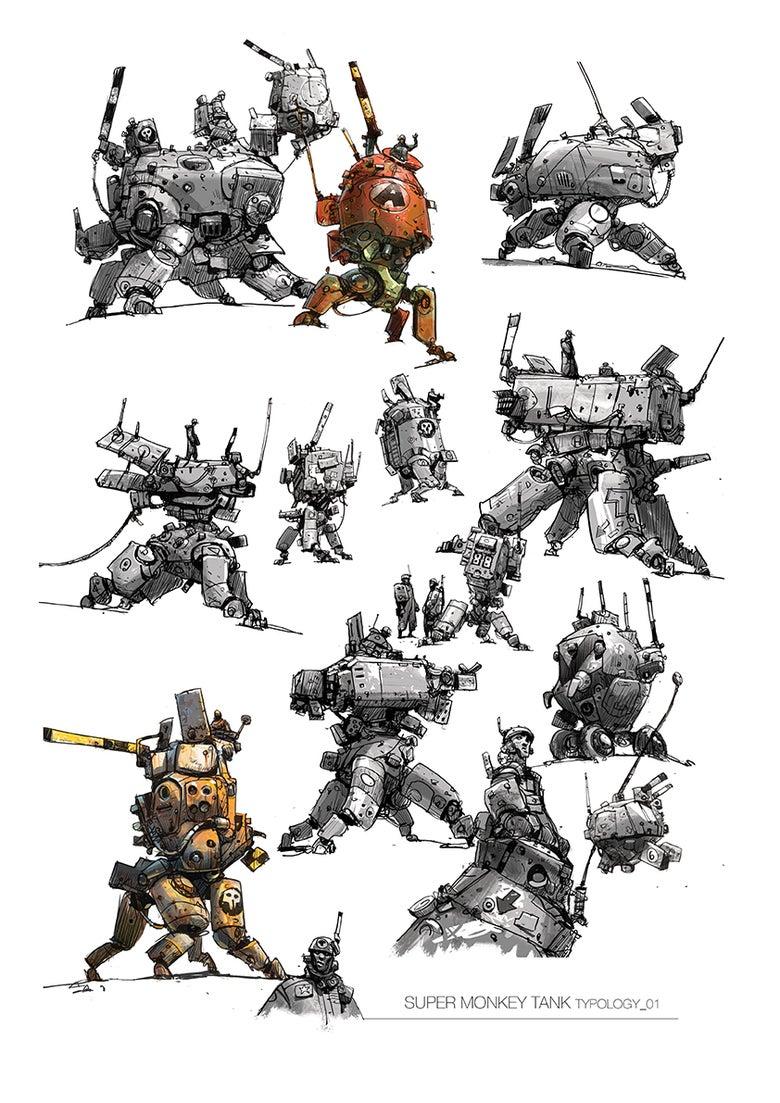 Image of 'Super Monkey Tank Typology_01' Print