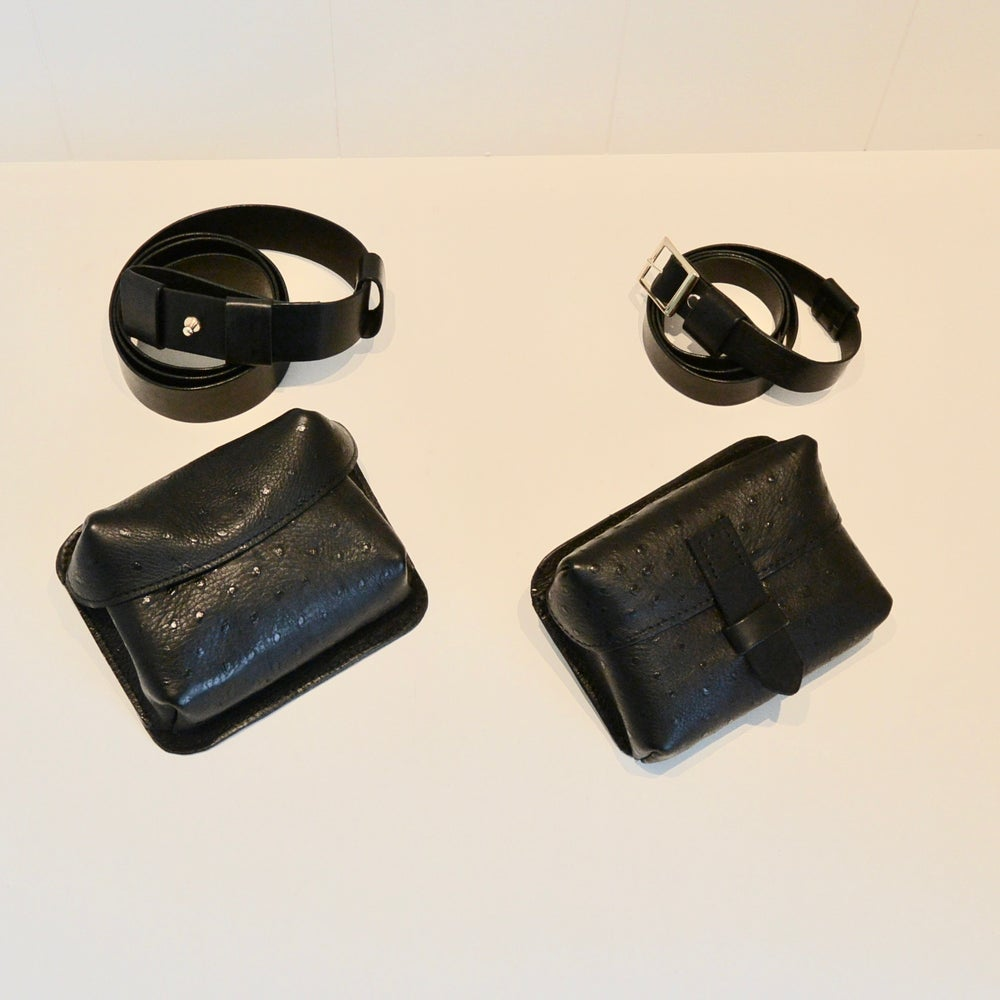 Image of Belt & shoulder bag black