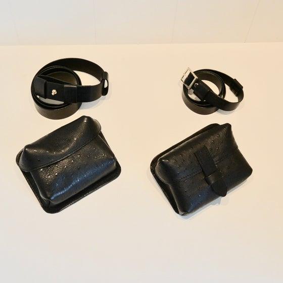 Image of Belt & shoulder bag black