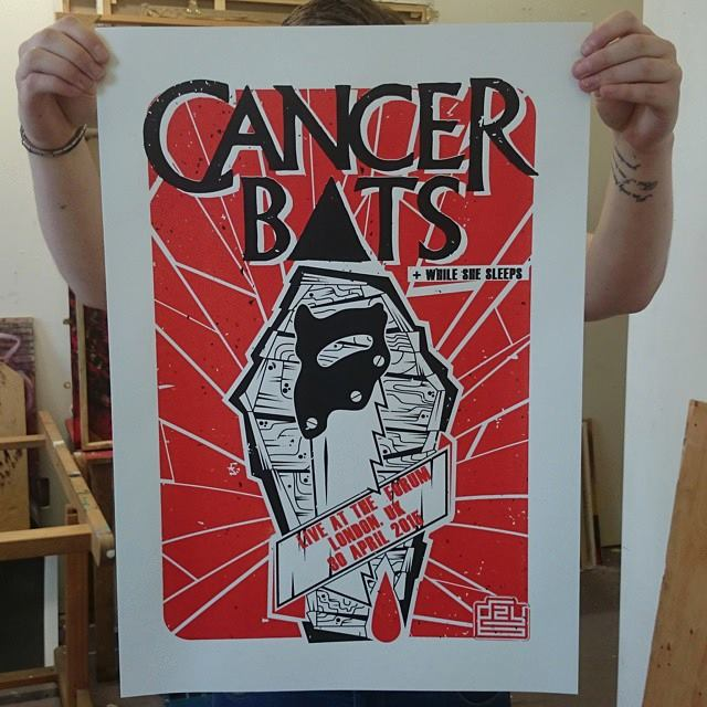 Image of Gzy Ex Silesia - Cancer Bats - London Gig Poster
