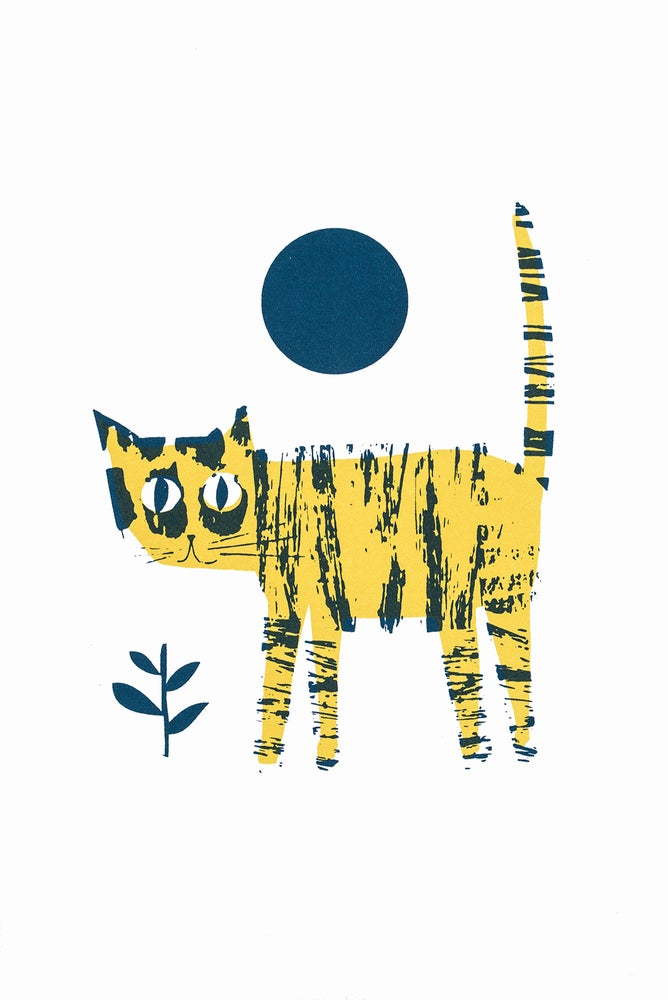 Image of Yellow cat with anxiety