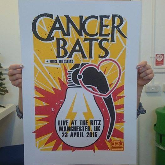 Image of Gzy Ex Silesia - Cancer Bats - Manchester Gig Poster