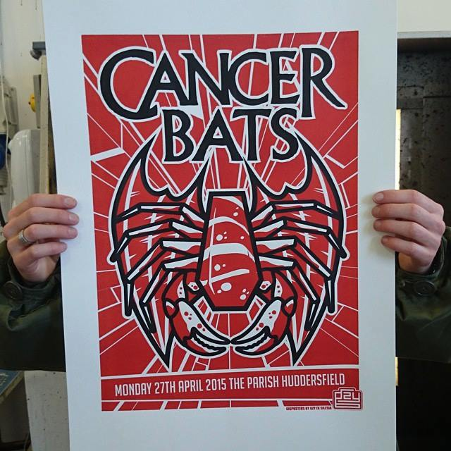 Image of Gzy Ex Silesia - Cancer Bats - Huddersfield Gig Poster