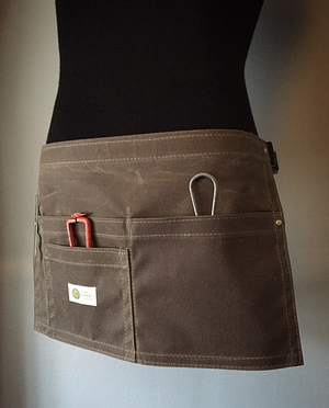 Image of Waxed Waist Apron • STYLIST • Water repellent Martexin Original Wax 8.25 oz Waist Apron.