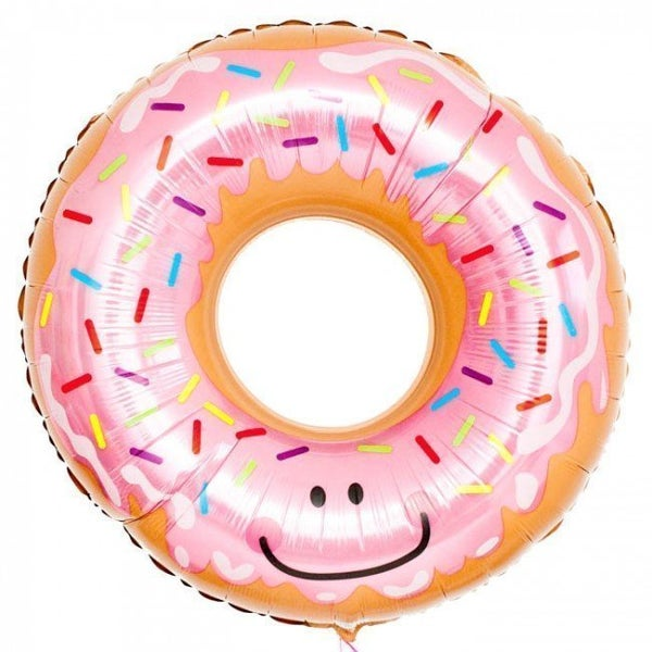 Image of {Pink Glazed Donut} Ballloon