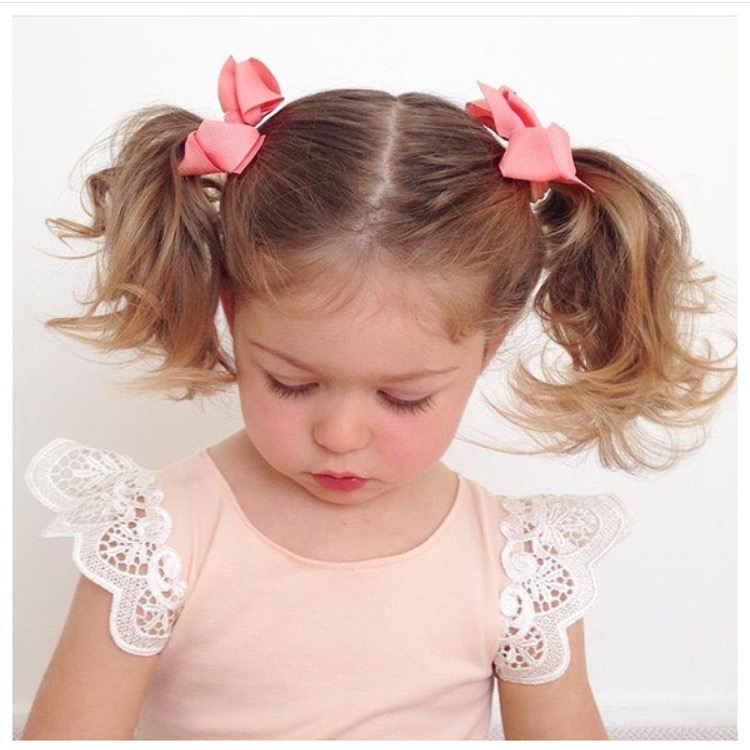 Image of Coral Bow Hair Tie 2 Pack