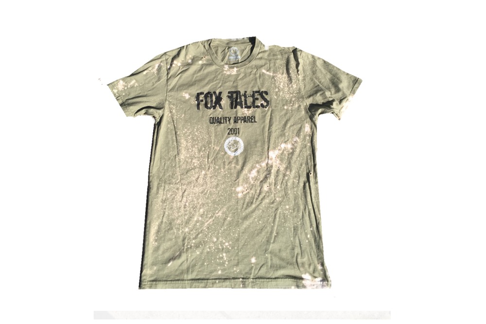 Image of Fox Tales Logo Grungy (Light Olive)