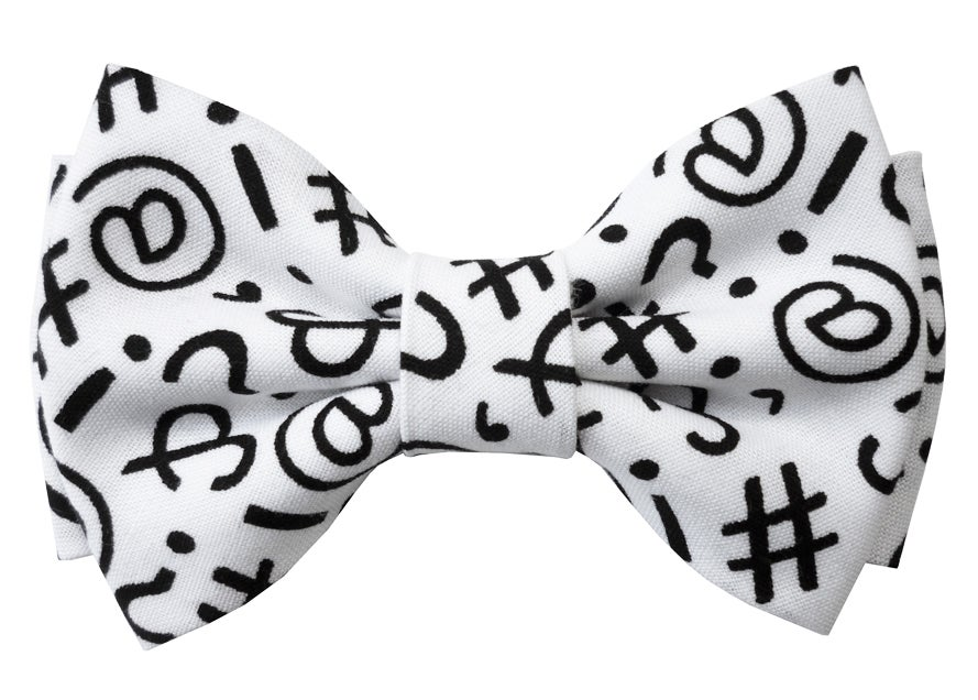 Image of Keyboard pattern bow tie