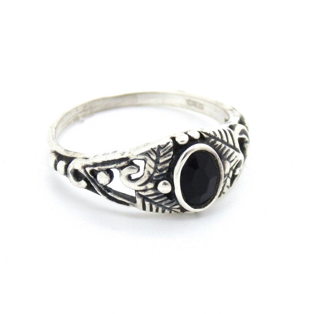 Image of Sterling Silver & Black Onyx Secret Garden Ring