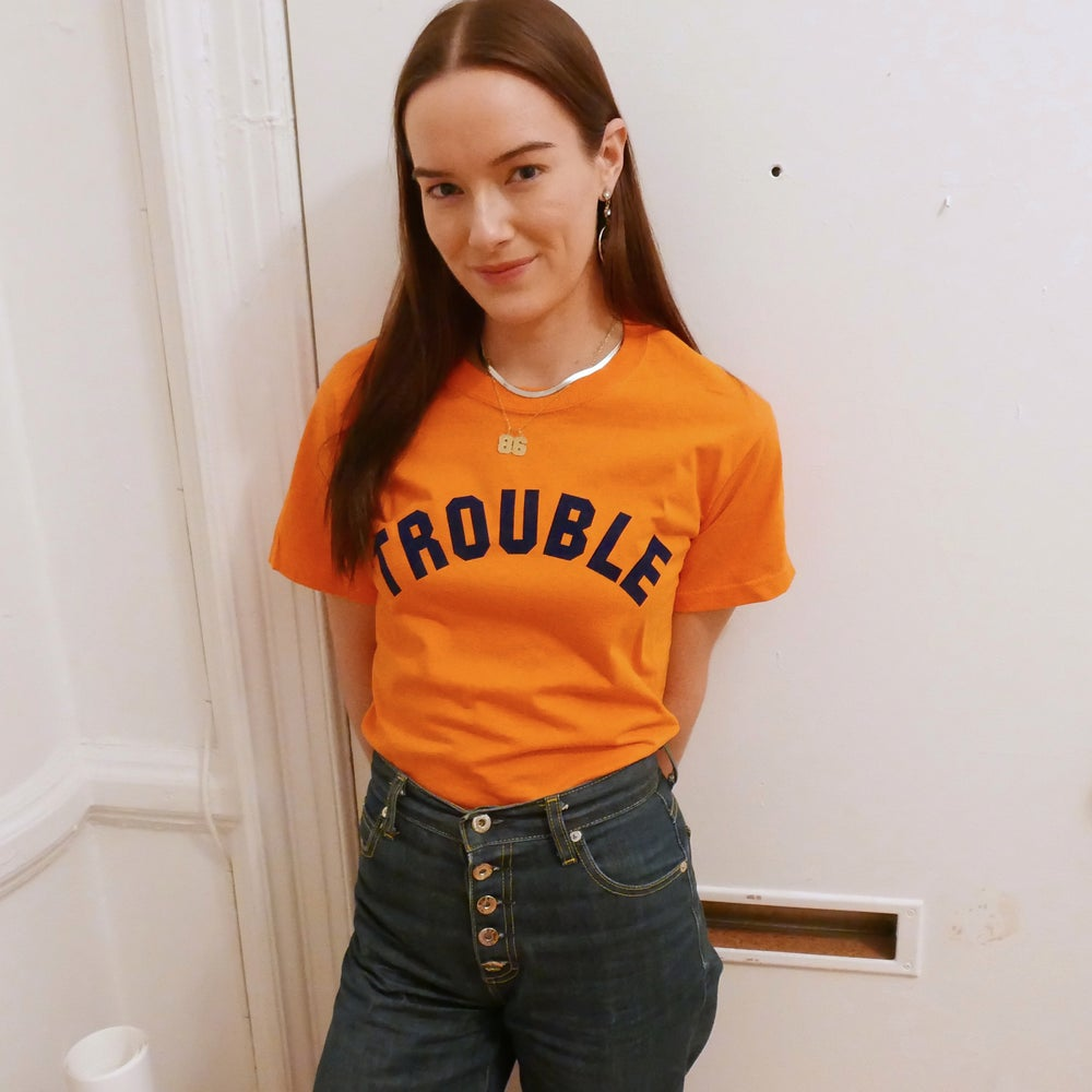 Image of ☆ ORANGE TROUBLE TEE ☆