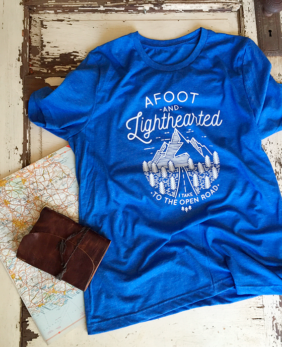 Image of AFOOT AND LIGHTHEARTED TEE Walt Whitman Road Trip Shirt