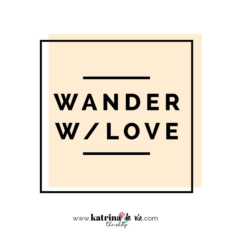 Image of Wander W/ Love Premade Logo