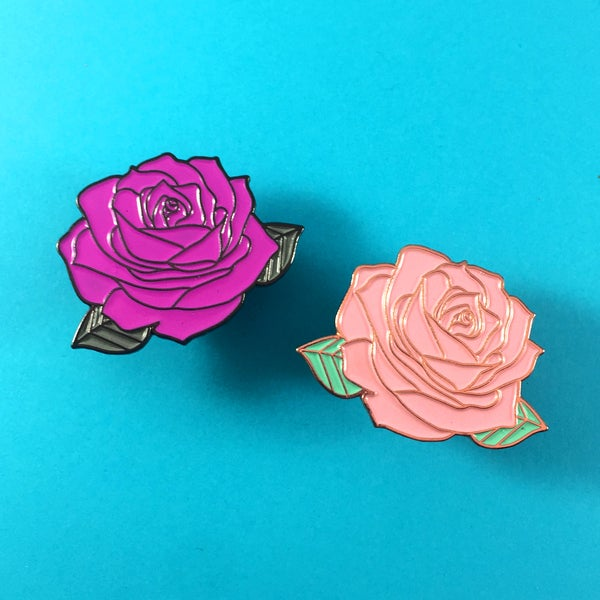 Image of New Rose Enamel Pin