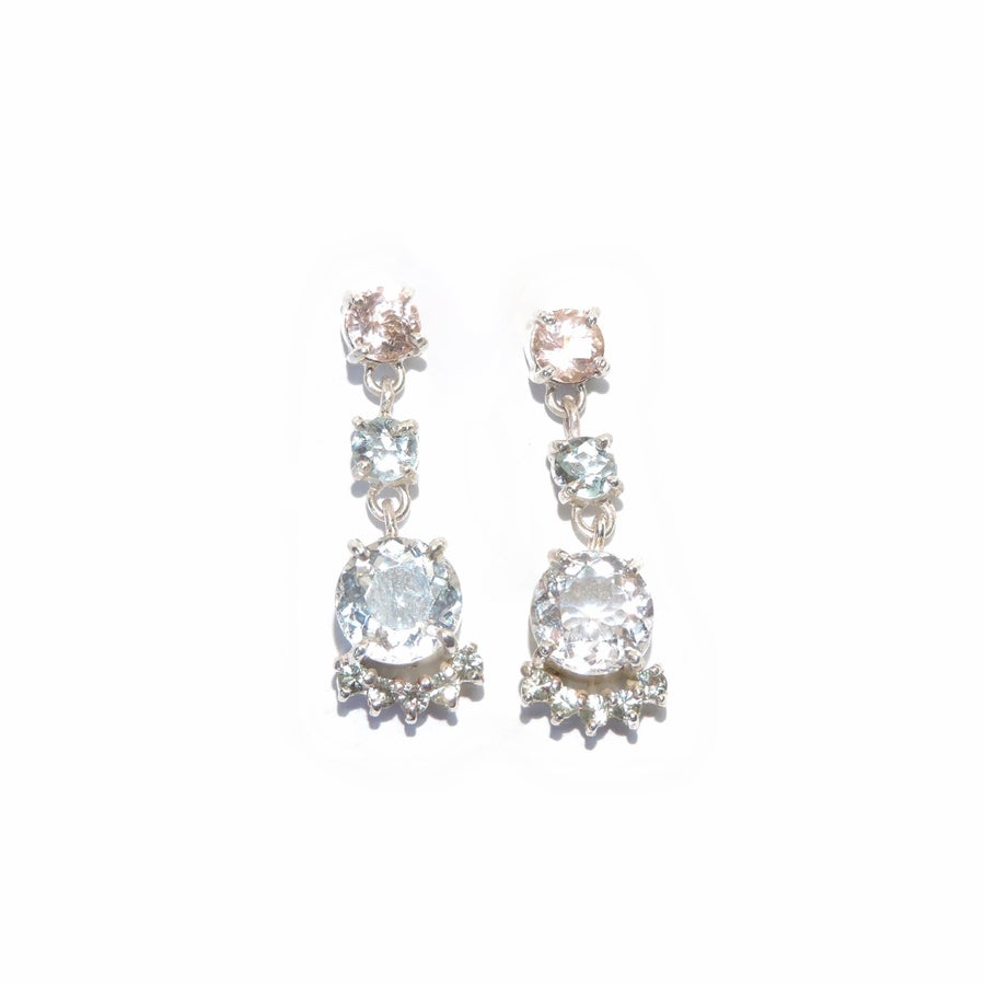 Image of cluster drop earrings