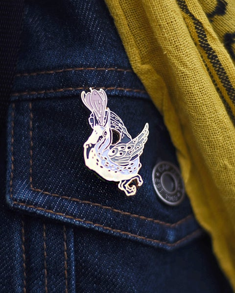 Image of Meadowlark's Song Enamel Pin - NEW