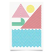 Image of Coast colour print