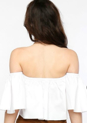 Image of Flounce of the Shoulder Top