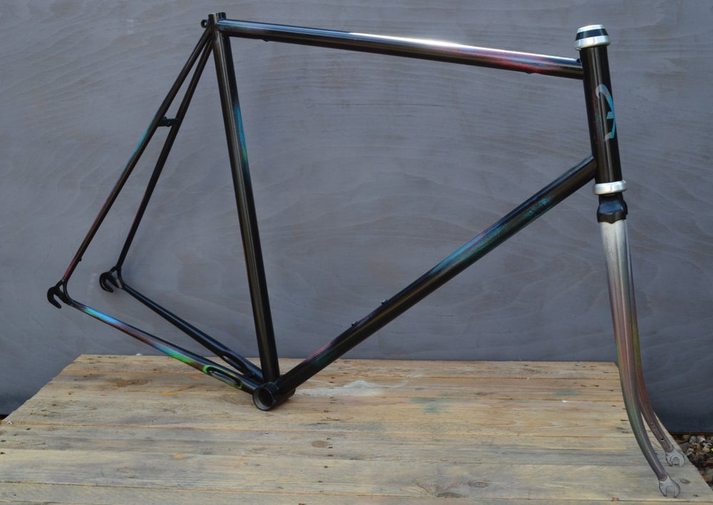Image of 80s Custom Painted Peugeot 501 Frame & Fork & Miche Heaset