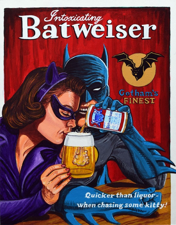 "Image of ""Intoxicating Batweiser"" signed canvas print"