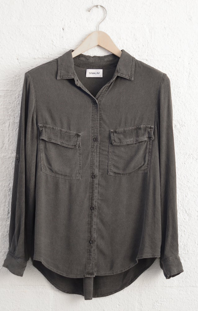 Image of Sam & Lavi Isabelle button down in Vintage Charcoal