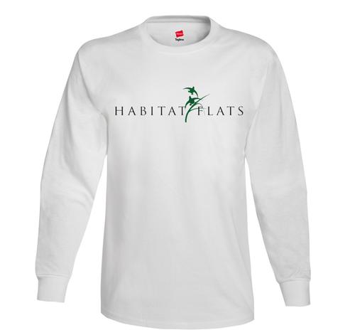 Image of Habitat Flats Long Sleeve White Shirt