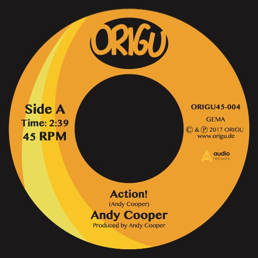 "Image of OUT NOW! 7"" Andy Cooper: Action! b/w Don't Hold The Feeling In (ORIGU45-004)"