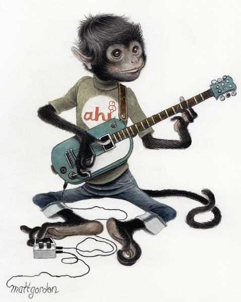Image of Monkey Limited Edition Print by Matt Gordon