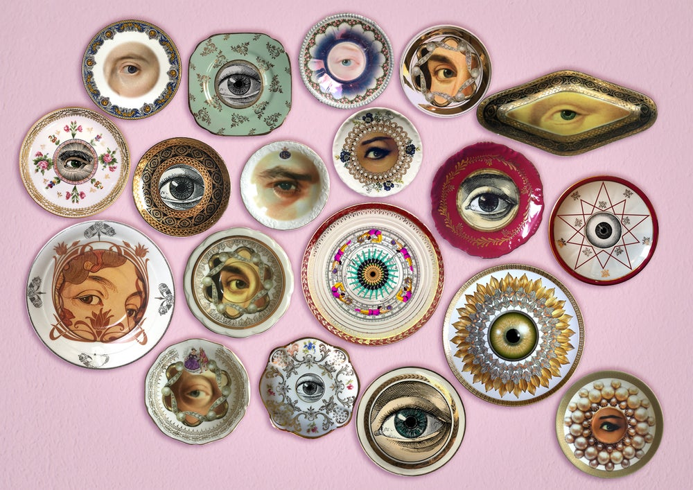 Image of Lover´s eye - Rococó - Porcelain Plate - More than 120 Years Antique - #0501