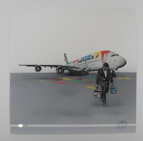 Image of NICK WALKER - AIR FRANCE - LIMITED EDITION 100 SIGNED, NUMBERED AND STAMPED