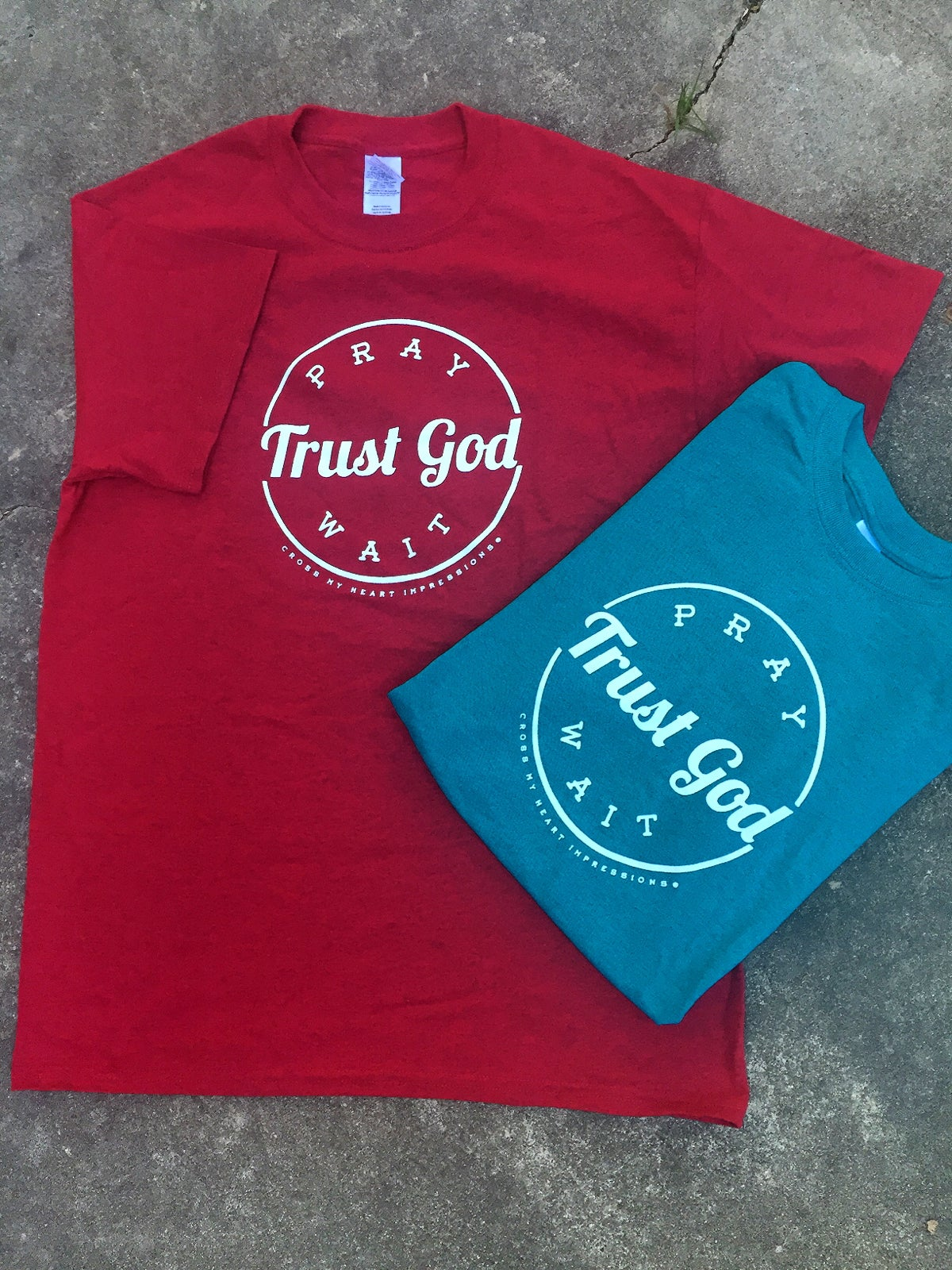 Image of Pray Trust Wait Tee