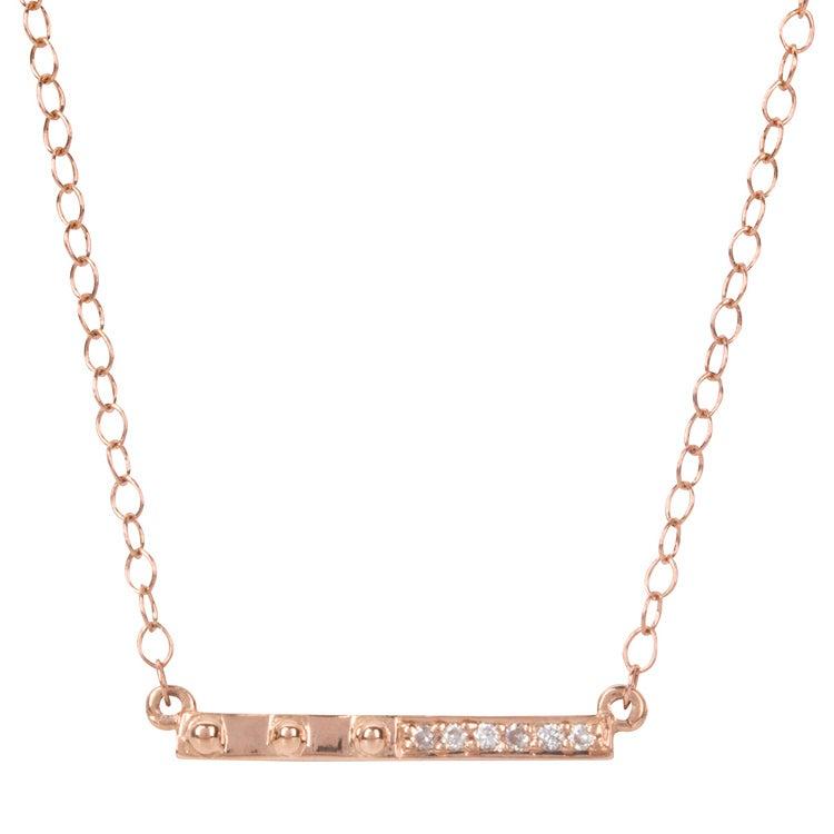 Image of Galatea White Bar Necklace