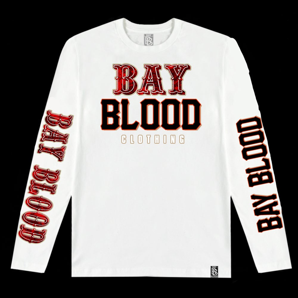 """Image of """"Frisco"""" Bay Blood Long Sleeve (White)"""
