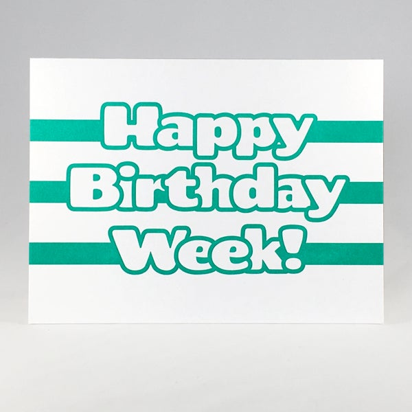 Image of Happy Birthday Week!