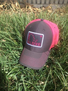 Image of Alaska Love Trucker Hat- Neon Pink