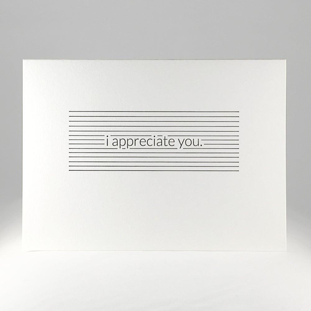 Image of i appreciate you.