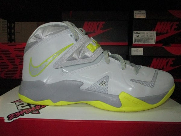 """Zoom LeBron Soldier VII (7) """"Wolf Grey/Sonic Yellow"""" - FAMPRICE.COM by 23PENNY"""