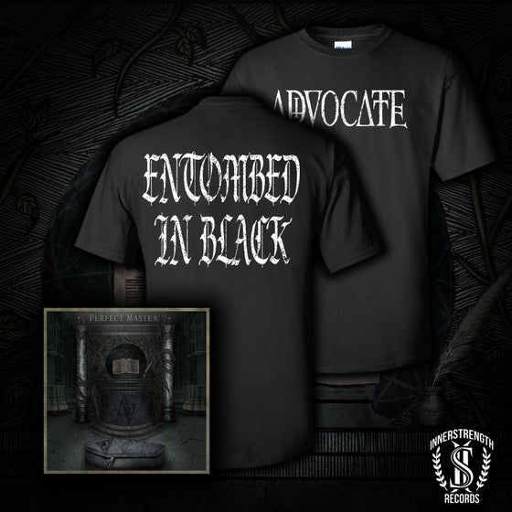 Image of Entombed In Black Shirt and CD