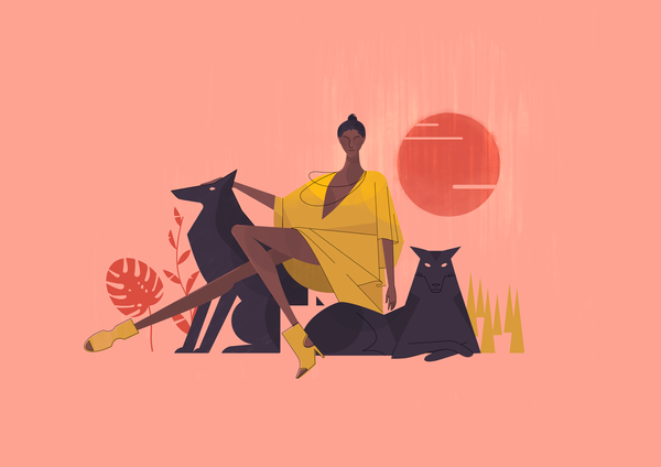 Image of Dogs and Dames I // A3 Art Print