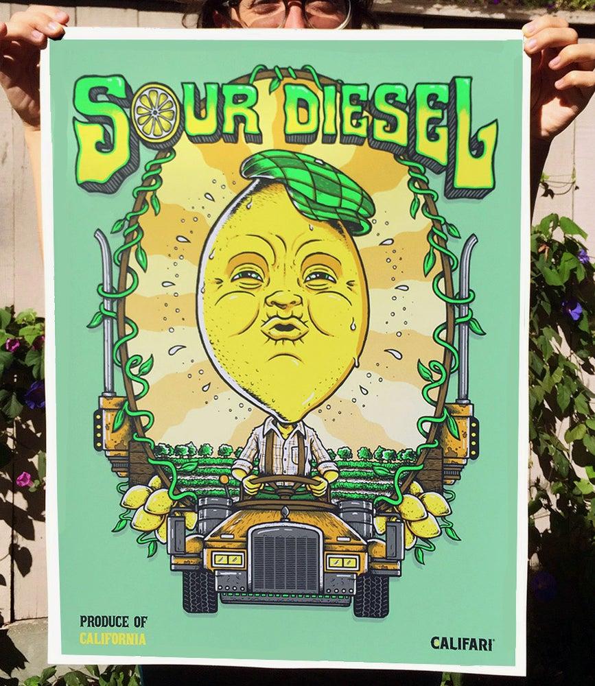 """Image of """"Sour Diesel"""" - CaliFari print.. lithograph & screenprint"""