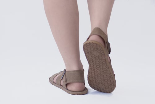 Image of Handmade Leather Sandals - Sandal X in Sand