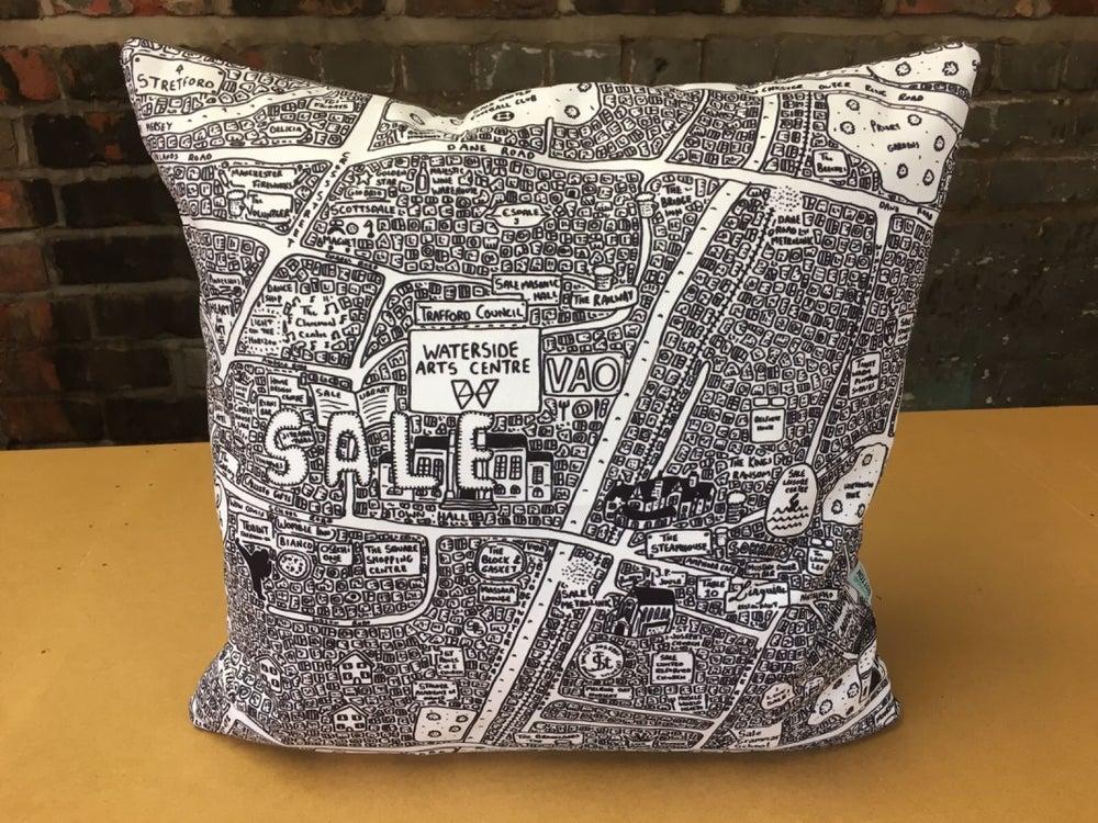 Image of Sale Doodle Map Cushion
