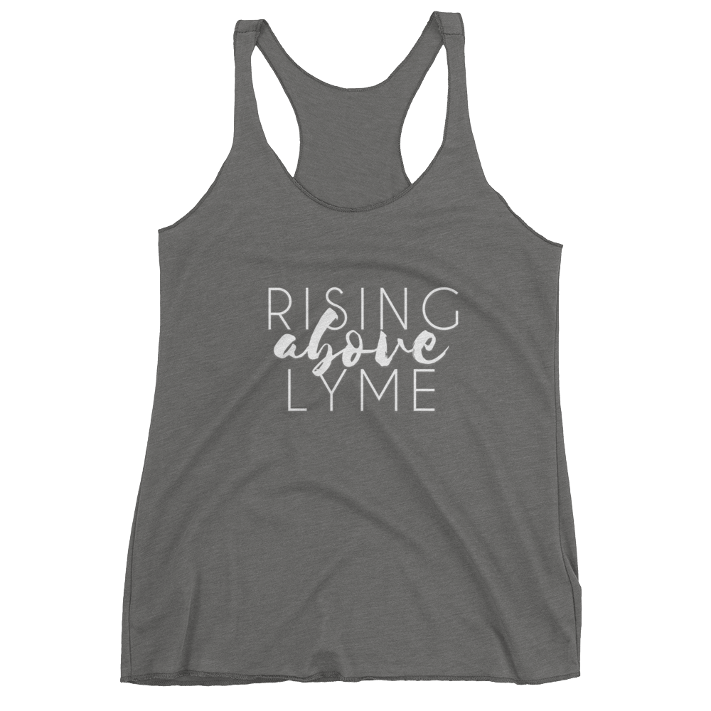 Image of Rising Above Lyme Racerback Tank - Grey