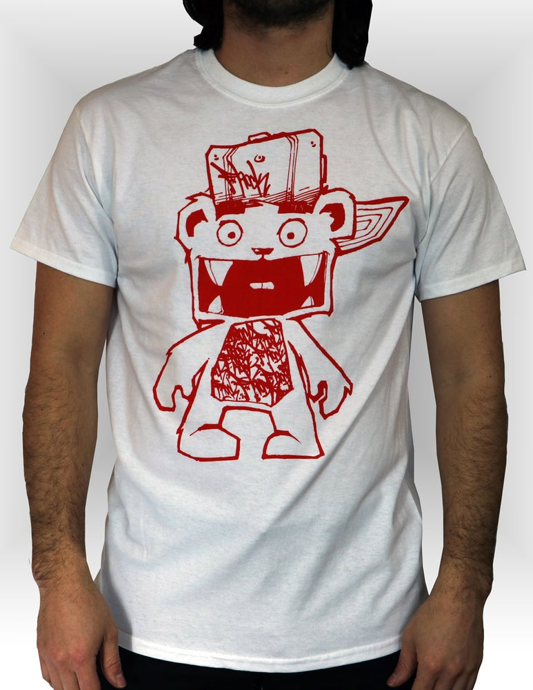 Image of Frank Tee - White/Red
