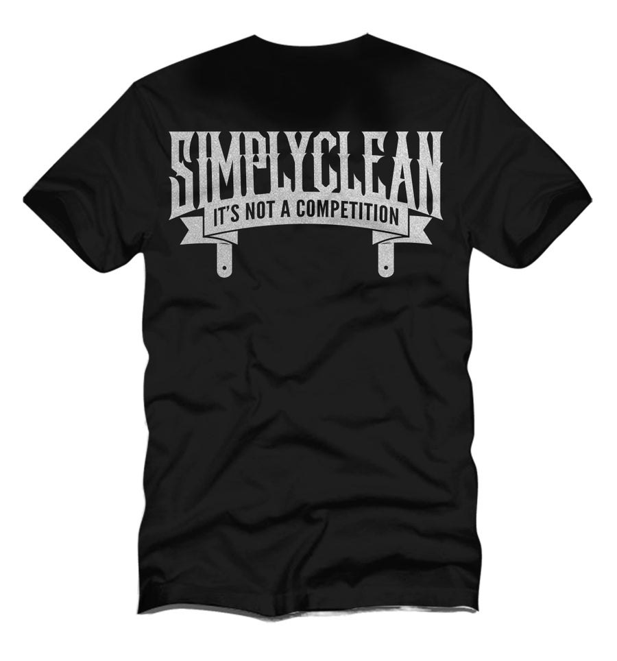 "Image of Male ""Plaque"" Tee... Black/Silver"