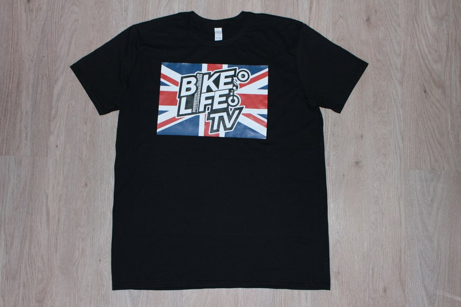 Image of Union Jack BikeLife TV T-Shirt