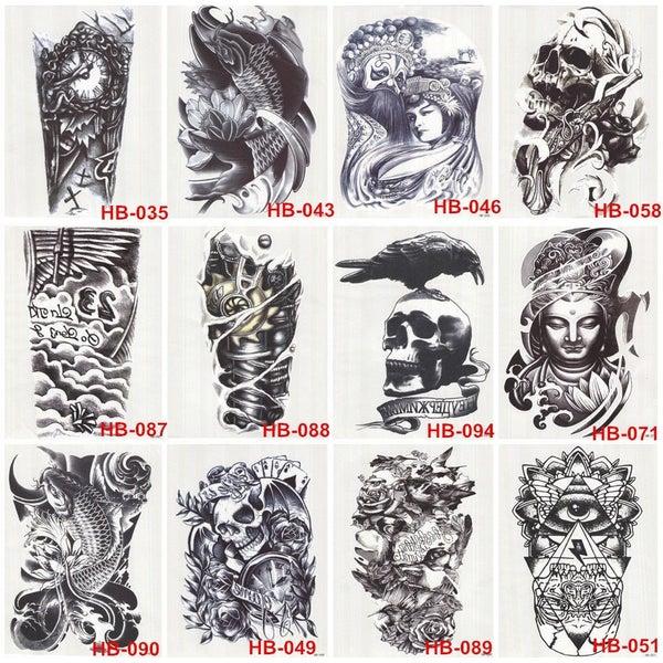 Image of Half Sleeve inkSlap Temporary Tattoo